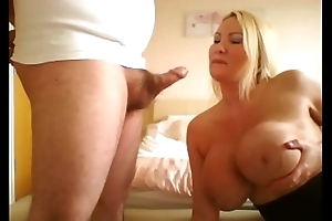 Big butt milf escort rides the cock and ruins her make-up gagging