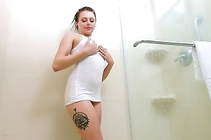 Cuties GONE WILD - Perfect, Young Teen Megan Solo Scene In The Shower