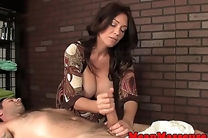 Massaging domina ruins clientele orgasm
