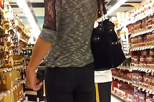Hot girl at the supermarket