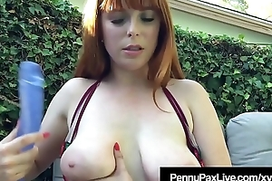 Ex Life Guard Penny Pax Squirts After Dildo Banging Herself!