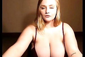 Cute bbw revealed her incredible tits on cam