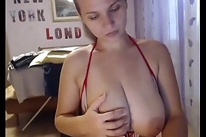 Hot chat girl topless with delicious tits