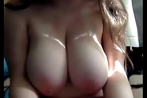 College babe showed big tits