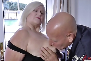 AgedLovE Businessman Came to Fuck Busty Grown up