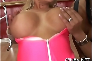 Beauty'_s panties ripped and copulates