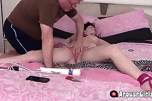 Super Hot Teen Tied To Bed And Force To Orgasm