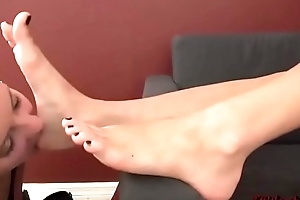 Fun Wipe the floor with and Sucking Yummy Toes and Soles - Feet Worship 2
