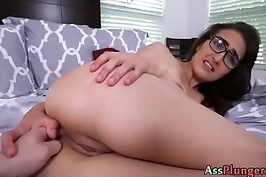 Slutty Girl Zoey Banks - Latina In Glasses Does Anal