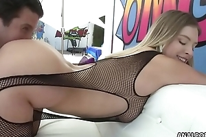 Giselle Palmer first anal on camera
