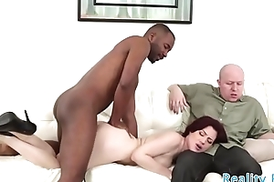 Busty wife cockolds her husband