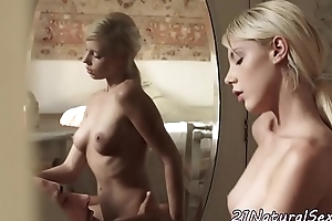 Classy beauty rides and sucks cock
