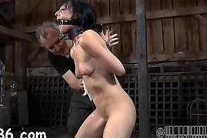 Harsh whipping for fascinating cutie