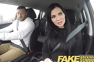 Fake Driving School lucky youthful lad seduced wits his busty milf examiner