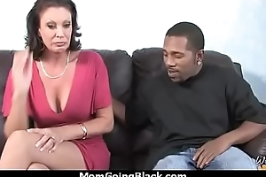 Titillating mom gets a creamy facial after getting pounded by a black dude 28