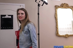 Fair-haired takes money for fast sex at private casting