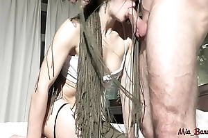 FIT TEEN GETS FUCKED ASS TO MOUTH AND TAKES MESSY FACIAL CUMSHOT. Mia Bandini