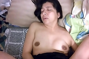 Hot mexican wife moans while gets fucked